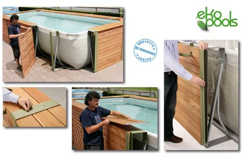 piscine rivestite in legno piscine fuori terra rivestite in legno qualit 224 e