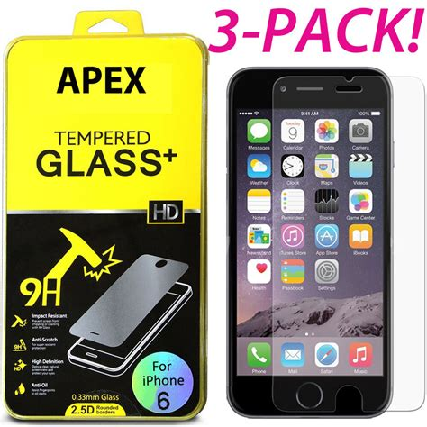new premium real tempered glass screen protector for apple iphone 6s 4 7 quot ebay
