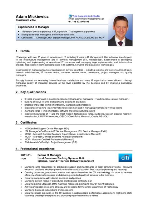 Cv On Englisch Adam Mickiewicz Cv Version
