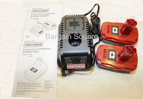 craftsman battery charger 19 2 new craftsman c3 19 2 lithium ion cordless battery charger