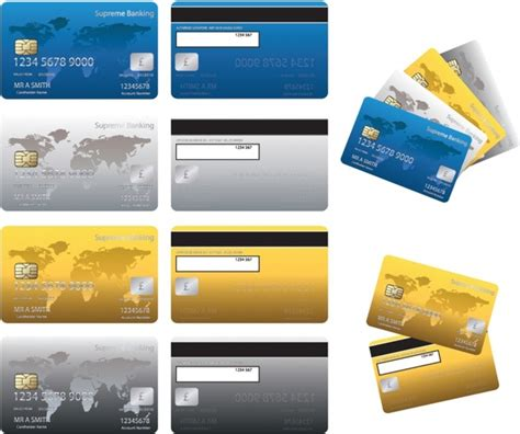 Visa Credit Card Template Vector Credit Card Free Vector In Adobe Illustrator Ai Ai