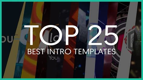 Top 25 Best Intro Templates Of 2015 Sony Vegas After Effects Cinema 4d Viyoutube Best Intro Templates