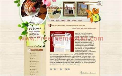 blogger themes cafe free floral restaurant blogger theme template download
