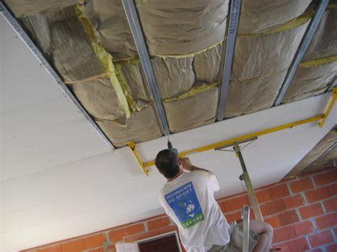 poser du placo au plafond plaque placo pas cher