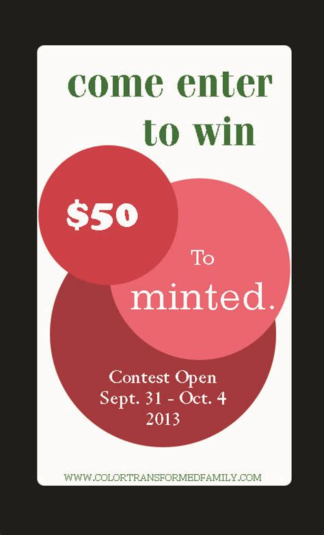 Minted Giveaway - giveaway monday 50 minted giveaway color transformed family