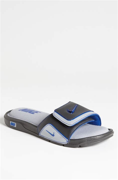 nike comfort slide 2 white and blue nike comfort slide 2 slide in gray for men night stadium
