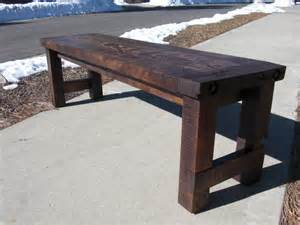 white farm house bench diy projects - House Bench