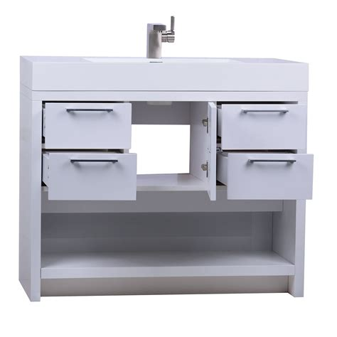 High Bathroom Vanities Lodi 40 Inch Modern Bathroom Vanity High Gloss Whtie Finish Tn L1000 Hgw Conceptbaths