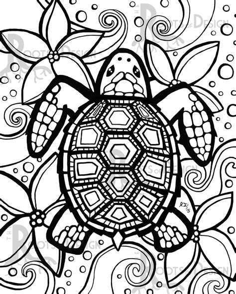 Turtle Coloring Pages For Adults turtle coloring pages search the rainbow