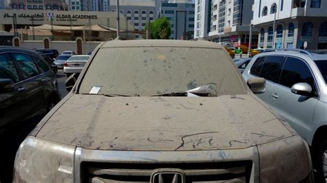 Dreckiges Auto by Aed 3000 For 100 Neglected Vehicles In Abu Dhabi