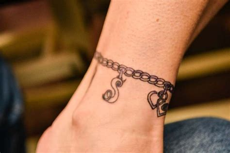 charm bracelet tattoo 149 best ankle tattoos images on