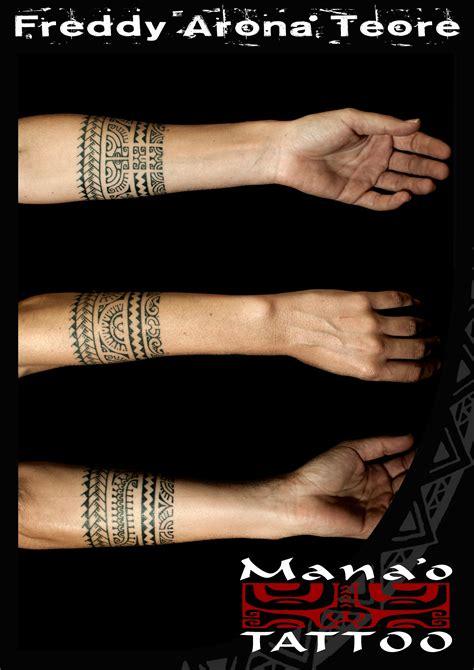 tatouage bracelet femme polynesien