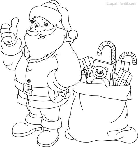 imagenes navideñas para colorear de papa noel dibujo de navidad para imprimir y colorear de pap 225 noel y