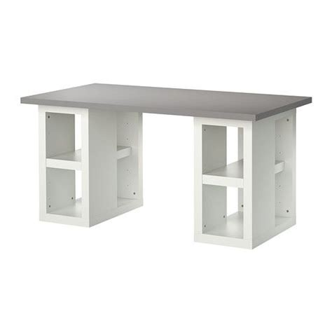 craft desk ikea rodd table l base nickel plated crafting craft tables and middle
