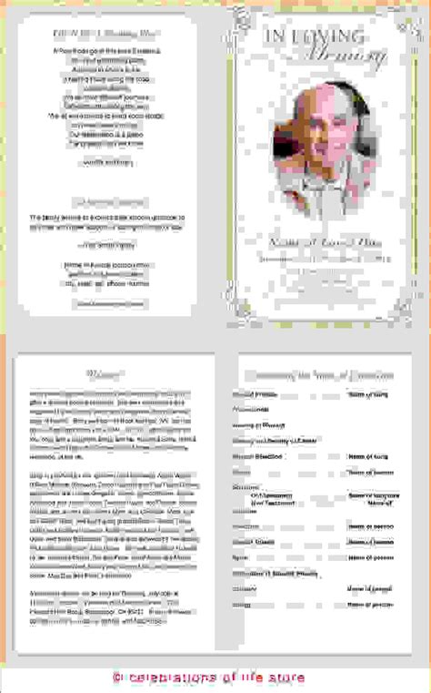 6 free printable funeral program templateagenda template