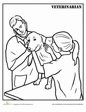 coloring pages veterinarian veterinarian coloring page education