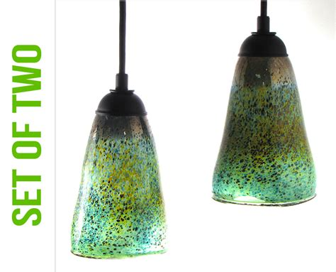 Glass Pendant Lights Blown Glass Pendants W Scavo Set Of Blown Glass Light Pendants