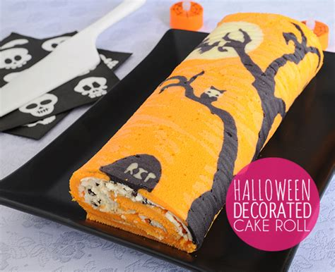 how to make a halloween decorated cake roll best friends