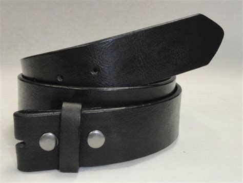 wholesale grained leather snap on belt black color