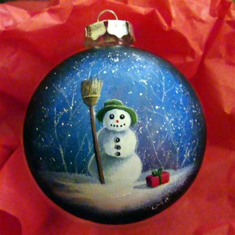 painted christmas ornaments to make hand painted
