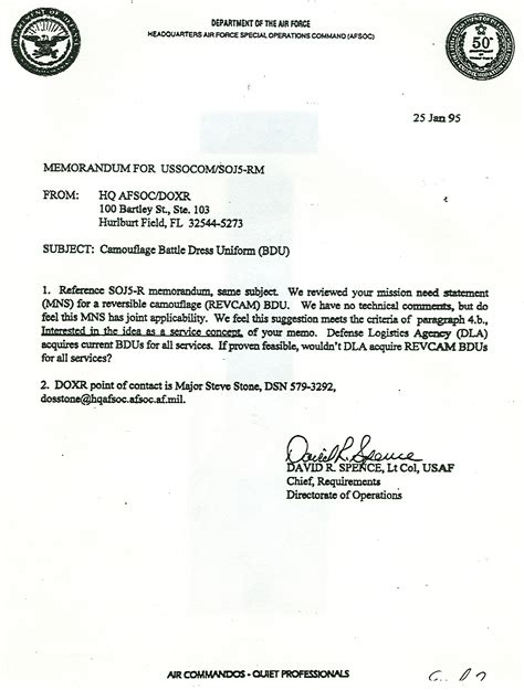 Endorsement Letter For Deployment The Usaf Special Operators Thought It Was A Idea Images Frompo