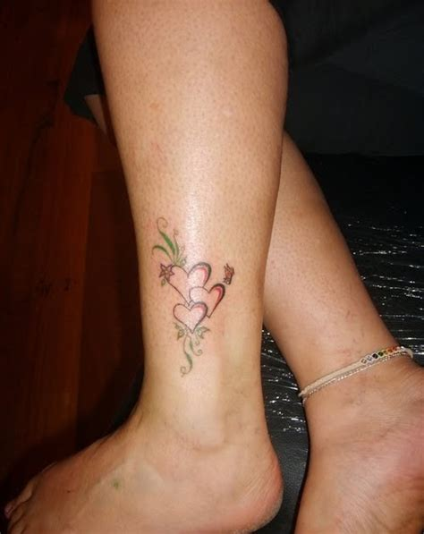 50 heart ankle tattoos
