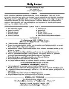 Firefighter Resume Templates firefighter resume exles emergency services sle resumes livecareer misc