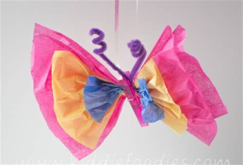 Tissue Paper Butterfly Craft - butterfly