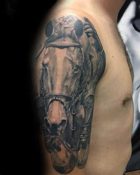 horseshoe tattoos for men 70 tattoos for noble animal design ideas