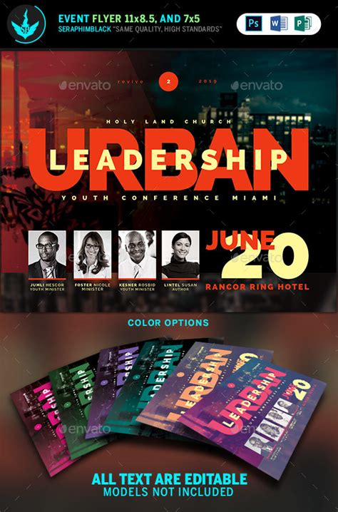 Urban Youth Leadership Conference Church Flyer Template By Seraphimblack Youth Flyer Templates
