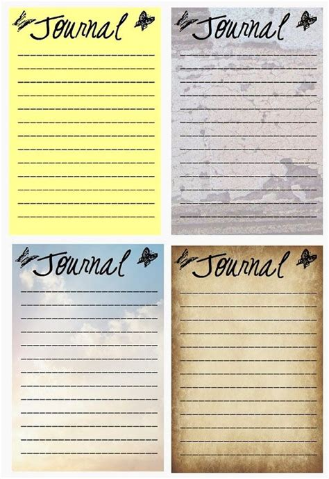 pattern of journal writing free printable simple journal cards nothing like some