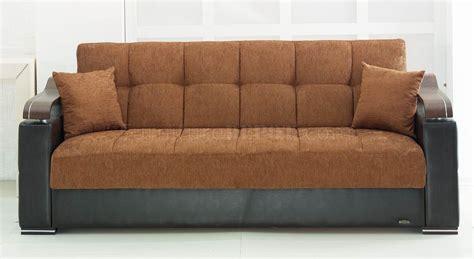 vinyl sofa bed brown fabric black vinyl modern sofa bed w options