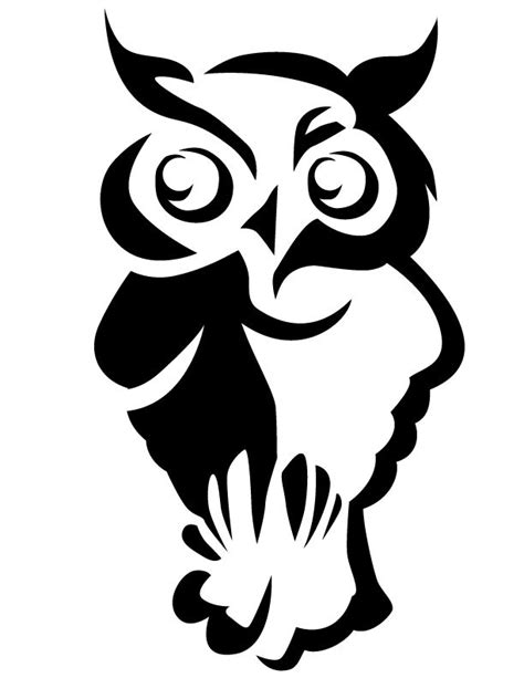 printable owl stencils owl stencil owl free printable coloring pages part of