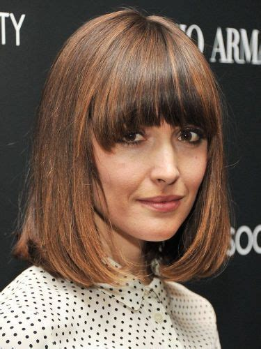lob hairstyle over 40 20 full bang bob haircuts hairstyles short long bobs