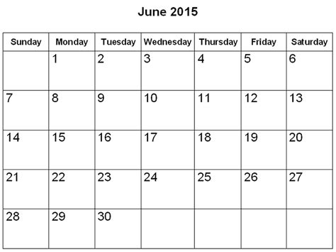 Calendar 2015 June Template Related Keywords Suggestions For June 2015 Calendar