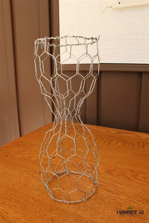 wire home decor chicken wire planter guest gift idea hometalk