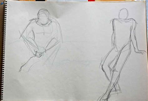 1 Minute Pose Sketches by Drawing 2011 Week 5 Janet S Jottings