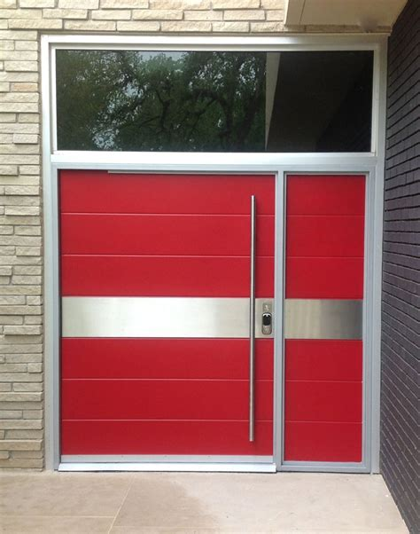 exterior steel double doors lighthouse garage doors modern contemporary door posted by portella steel doors