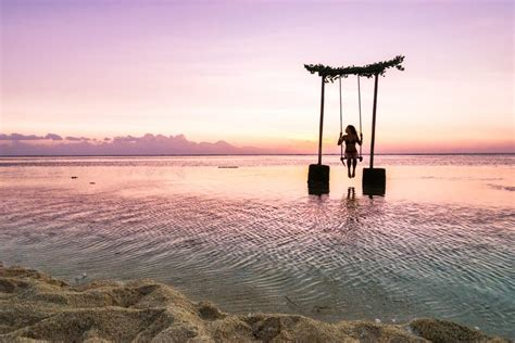 ocean swing magical gili trawangan swing above the ocean journey era