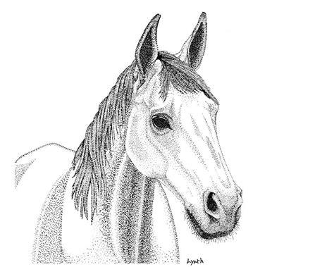 Farm Horse In Pointillism Digital Art By Gerald Lynch
