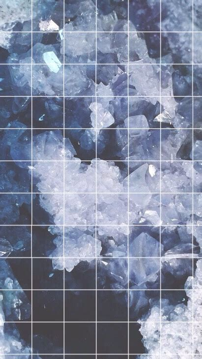 aesthetic blue wallpaper aesthetic crystal grids please like and or reblog if