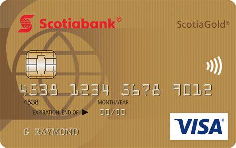 fee scotiagold visa credit card