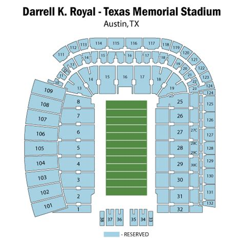 texas stadium seat map darrell k royal texas memorial stadium texas longhorn football