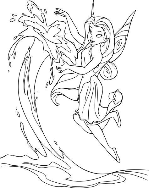 Coloriage la fée aquatique Ondine à imprimer et colorier