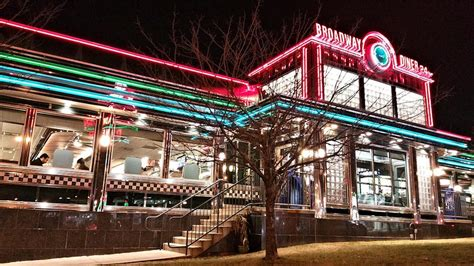 Broadway Lights Diner by Sure Looks Neat At Nite With The Colorful Lights Yelp