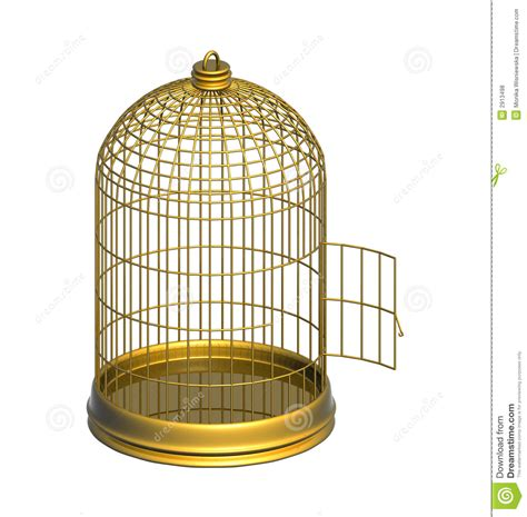 gabbia dorata gabbia dorata fotografie stock libere da diritti
