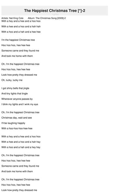 i am the happiest tree lyrics 28 images teaching