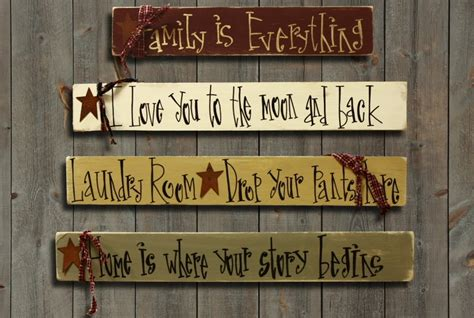 Handcrafted Wooden Signs - country primitive signs and wall words myideasbedroom
