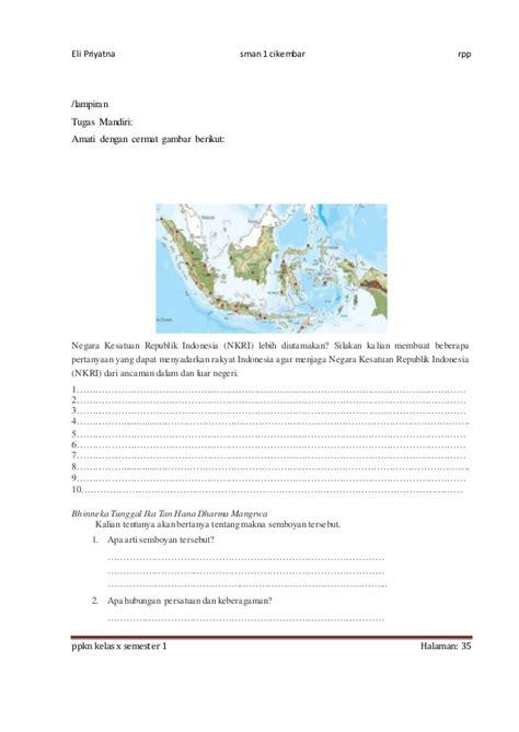 membuat makalah tentang nkri rpp ppkn x bab 7 1516 8 kali jp