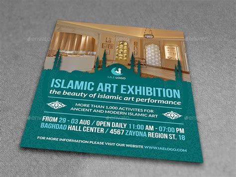 Islamic Art Exhibition Flyer Template By Owpictures Graphicriver Exhibition Template